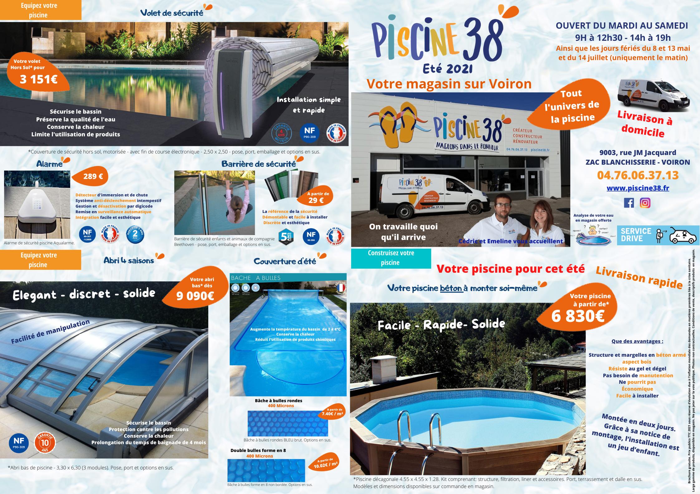 Dépliant produits piscine 38 pour été 2021